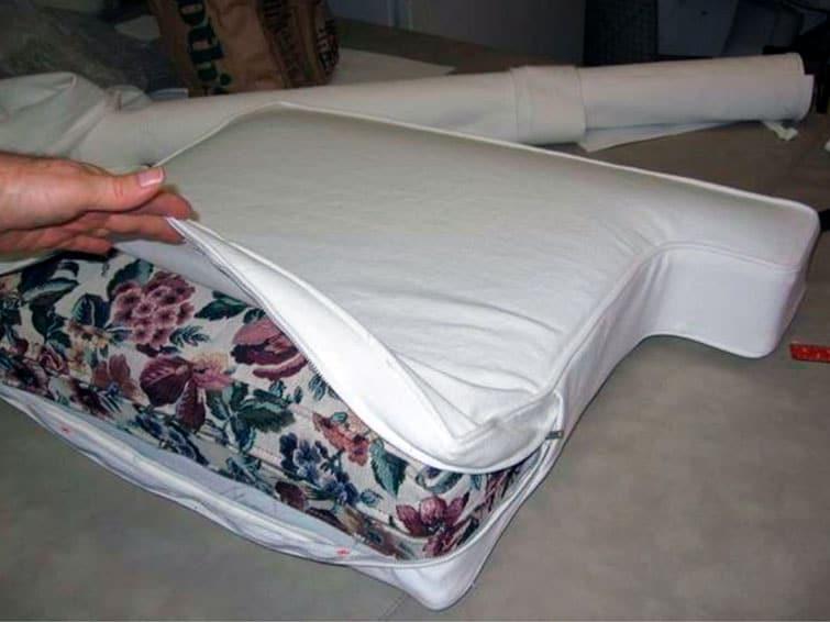 Обивка подушек для дивана