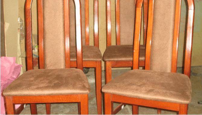 Обивка спинки стула