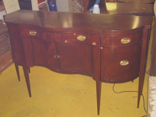 Реставрация лакового покрытия мебели