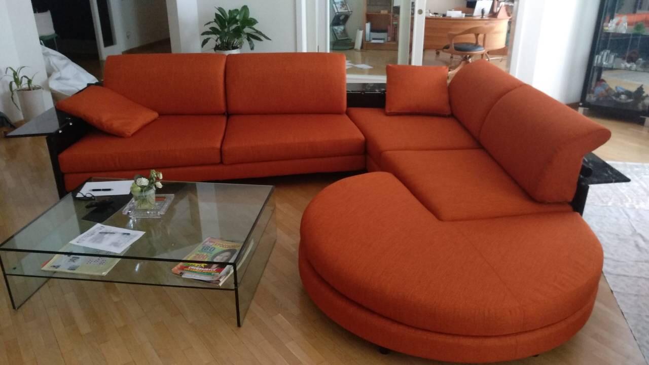 Перетяжка модульных диванов
